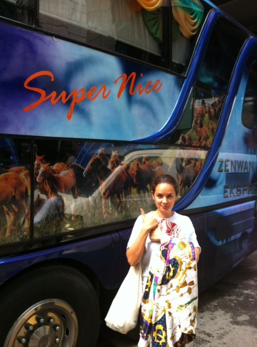 We took the supernice bus from Kuala Lumpur to Singapore