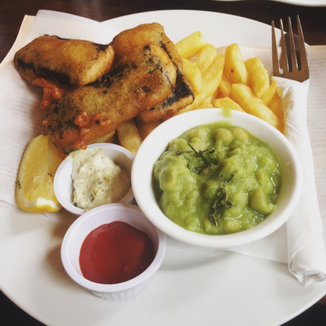 Hangover Breakfast (veg. Fish & Chips)